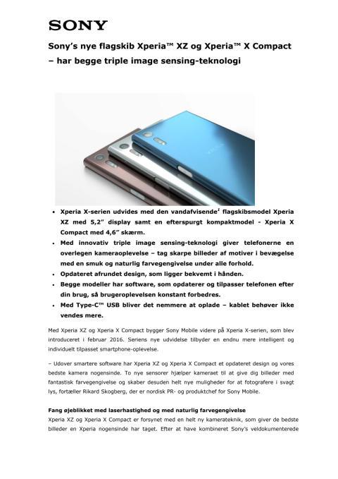 Xperia™ XZ og Xperia™ X Compact