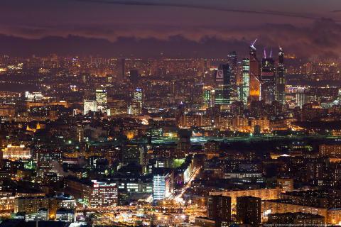 Blick vom Ostankino TV Tower