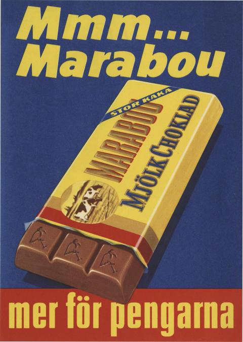 Marabou mjölkchokladkaka, 1956
