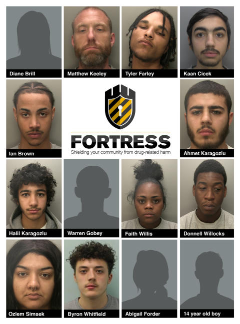 Eight jailed for just over 43 years for their involvement in Basingstoke drugs network