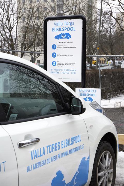 För att underlätta för de boende att leva klimatsmart erbjuds bland annat elbilspool.