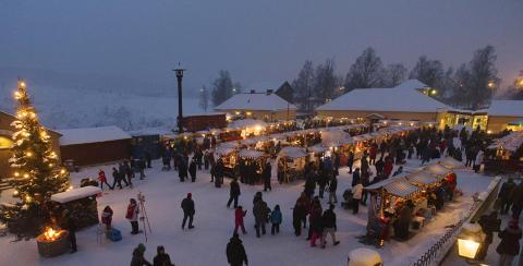 Hantverk och mat i fokus på julmarknaden vid Falu Gruva
