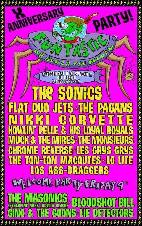 Garage Rock festival in Benidorm, Spain - Funtastic Dracula Carnival 2015