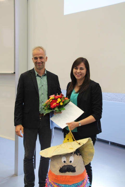 Preis des Deutschen Akademischen Austauschdienstes (DAAD) 2017 an Masterstudentin Sara Elizabeth Canales Castro aus El Salvador