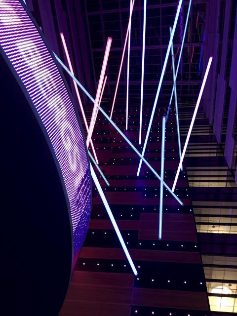 WOW FÖR TELIA, SOLNA - ett av de nio projekt som tävlar om Svenska Ljuspriset i år
