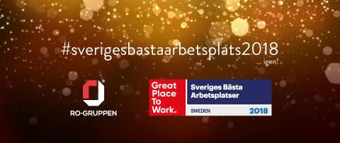 """RO-Gruppen utsedd till en av """"Sveriges bästa arbetsplatser"""" – igen."""