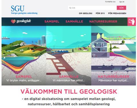 SGUs digitala skolsatsning Geologisk