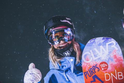 Kjersti Buaas gikk for gull i natt. Foto: Process Films / Snowboardforbundet