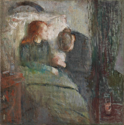 "Edvard Munch, ""The Sick Child"", 1885-86."