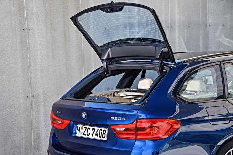 BMW 5-serie Touring - Separat åbning af bagruden