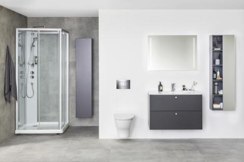 Nelikulmainen IDO Showerama 10-5 -suihkukaaappi