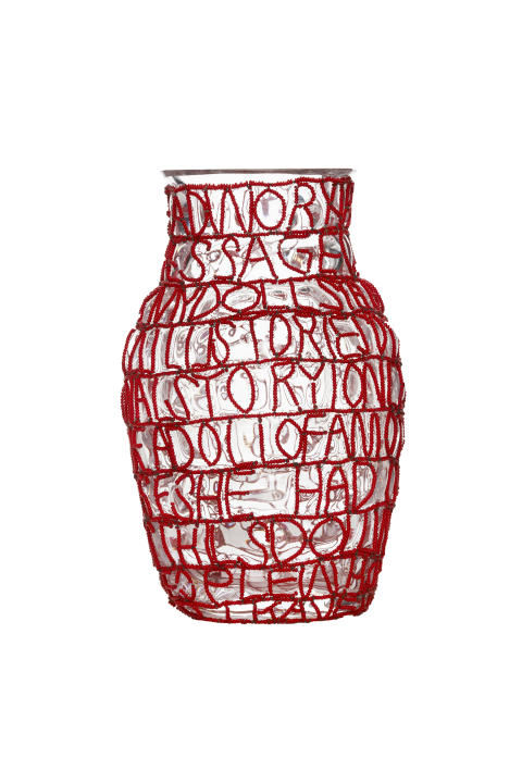 Story Vase red