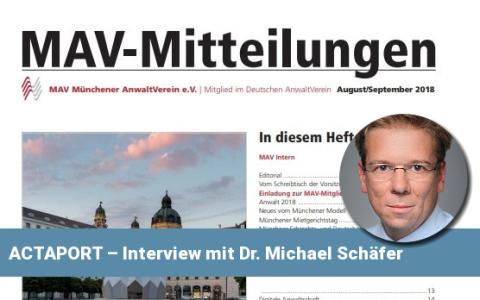 ACTAPORT – Ein Interview mit Dr. Michael Schäfer
