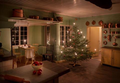 Julstämning i köket på Julita gård.