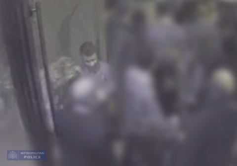 CCTV still of Martine and Abdulhak in the Maddox club