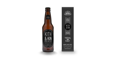 Kith & Kin - ett välsmakande resultat av vänskap mellan skottar och irländare -  ny Innis & Gunn stout lagrad på fat från Teeling Whiskey