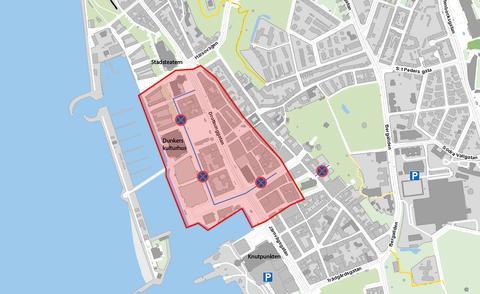 Stora delar av centrum stängda för vanlig biltrafik under studentfirandet 8 juni