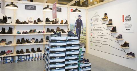 Ett brett sortiment skor och kängor
