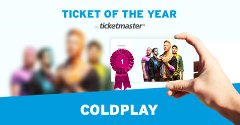 Coldplay kåret til Ticketmaster Ticket of the Year 2016