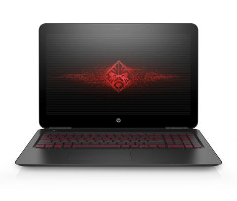 15.6 OMEN by HP with new brand logo on screen, Front Facing