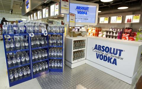 Abosulut Vodka, Bordershop Puttgarden