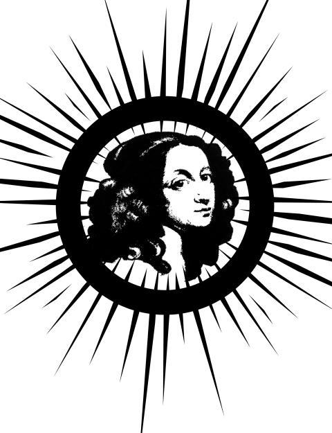 Bilder av Kristina: symbol svartvit utan text