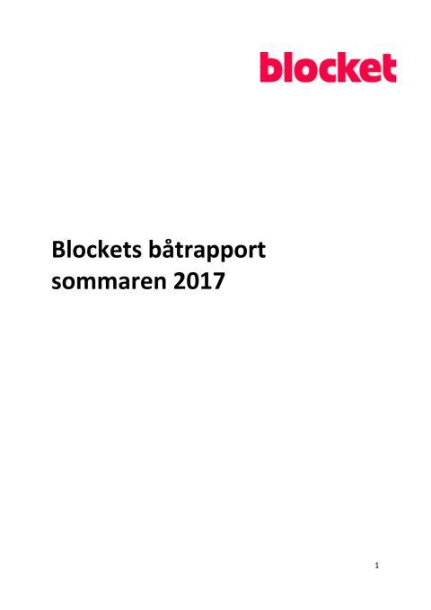 Blockets båtrapport 2017