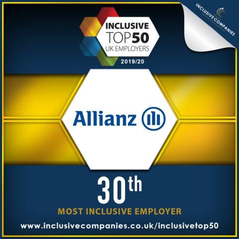 Allianz Insurance named in The Inclusive Top 50 UK Employers List