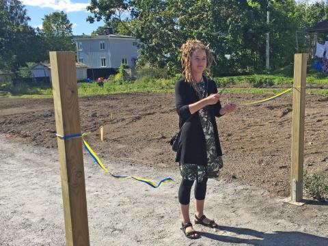 Nya odlingslotter invigdes i Härnösand