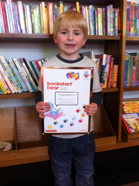 Going for gold with Bookstart Bear