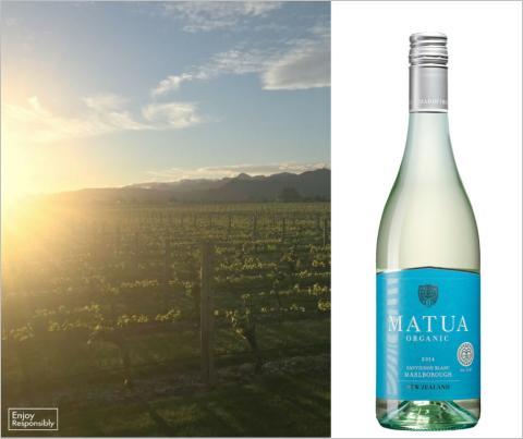 Arvostetun IWSC-kilpailun vuoden uusiseelantilaiseksi viinituottajaksi palkitseman Matuan Luomu Sauvignon Blanc nyt Alkossa