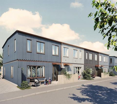 Byggstart för VeidekkeFLEX-radhus i Mariefred