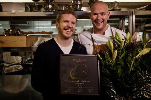 Klas Ljungquist och Johan Jureskog på restaurang AG