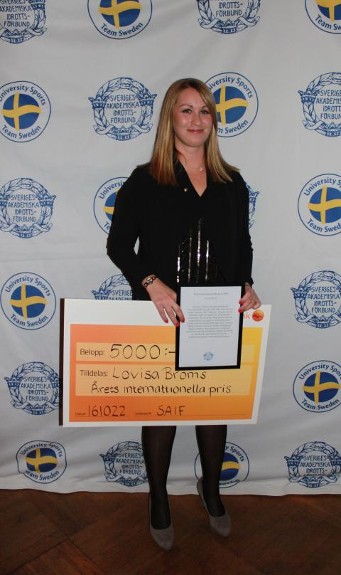 Lovisa Broms, Årets internationella pris 2016