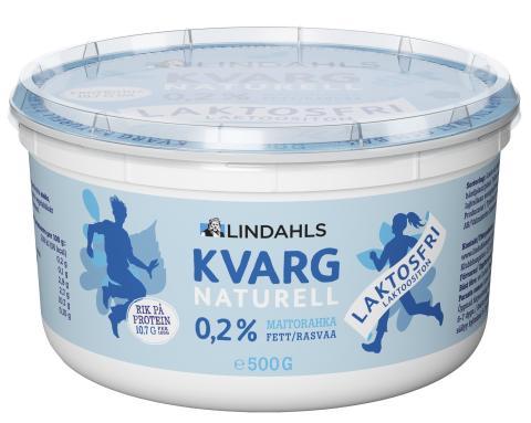 Äntligen! Lindahls lanserar laktosfri naturell kvarg.
