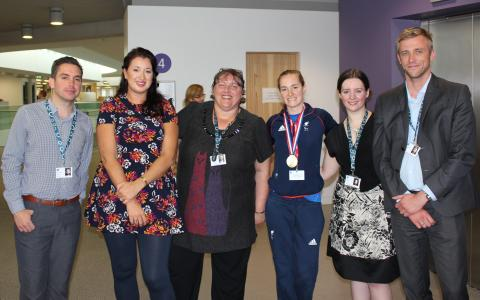 The 'Claire' winners – council officers earn Paralympian visit
