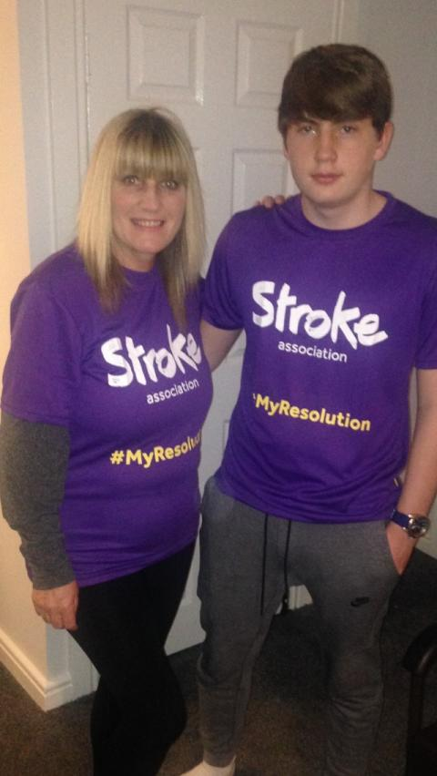 ​Hartlepool family take on Resolution Run for the Stroke Association
