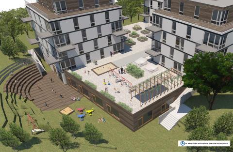 Scheiwiller Svensson ritar lekfull förskola i Orminge