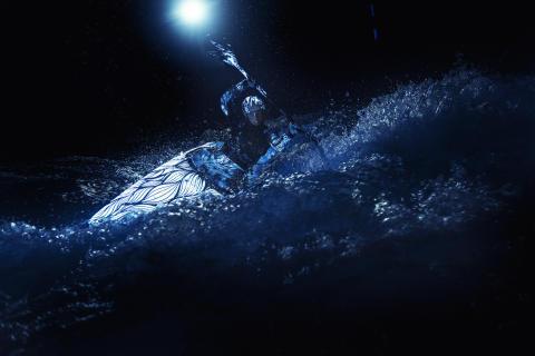 Black Light Kayak