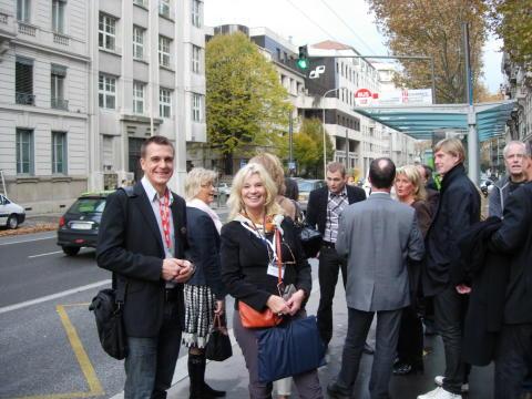 Malena Ivarsson ankommer till Lyon för ESSM-kongressen