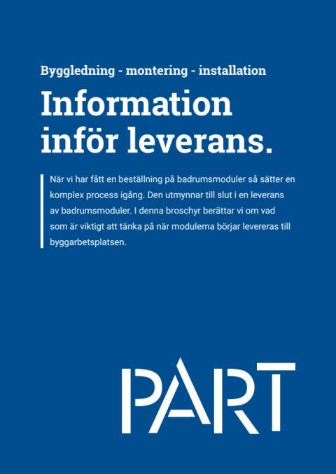 Information inför leverans