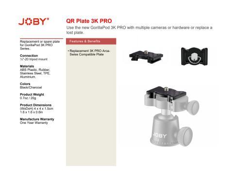 Joby GorillaPod 3K Pro QR plate datasheet.pdf