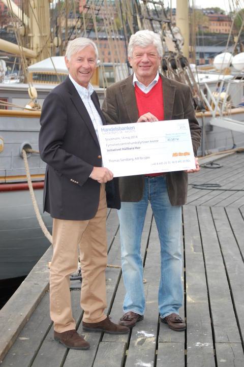 Allt för sjön skänker över 40 000 kronor till Initiativet Hållbara Hav