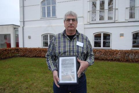 Bo Andersen, MAN Odense A/S, modtog på vegne af firmaet prisen som årets service-partner 2015