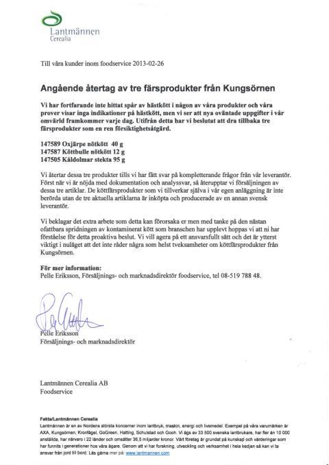 Information från Lantmännen
