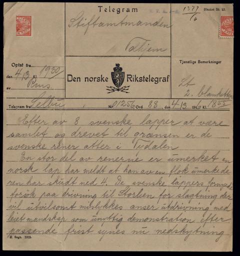 Utstilling om det første samelandsmøtet i 1917
