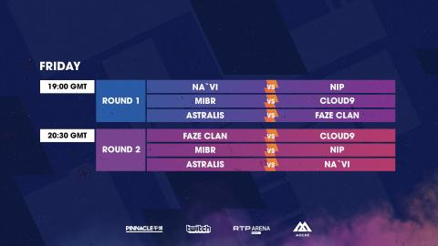 Info: BLAST Pro Series Day 1 match Schedule