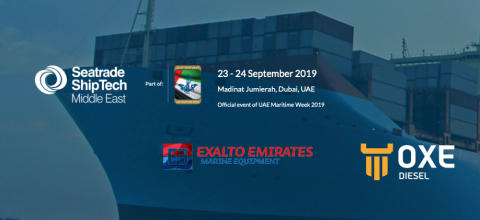OXE Diesel displayed at Exalto Emirates at Seatrade ShipTech Middle East 2019