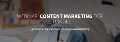 Webinar: Content marketing för e-handel