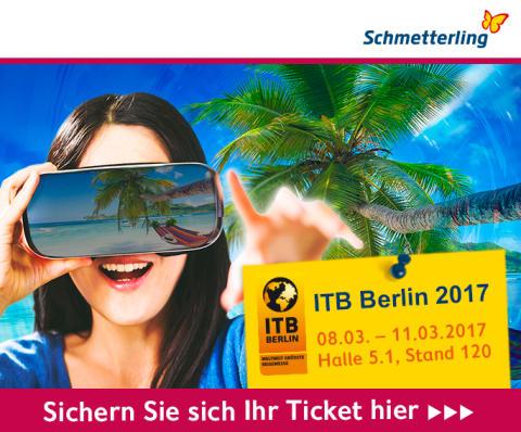 ITB 2017 – Schmetterling lädt ein zum Abtauchen in die Welt der virtuellen Reiseberatung